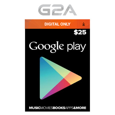 $25 USD Google PLAY Store USA Gift Card - 25 Dollar Google Play Android Code US