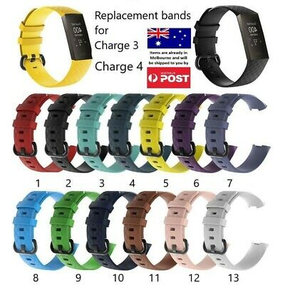 Replacement Band - Fitbit Charge 3 Silicone Watch Wrist Sports Strap Wristband