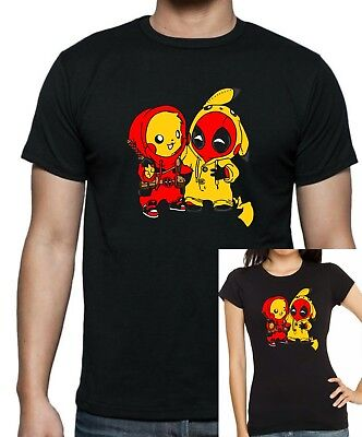 Deadpool Pikachu PIKAPOOL Besties T-shirt .. Up to 5XLarge