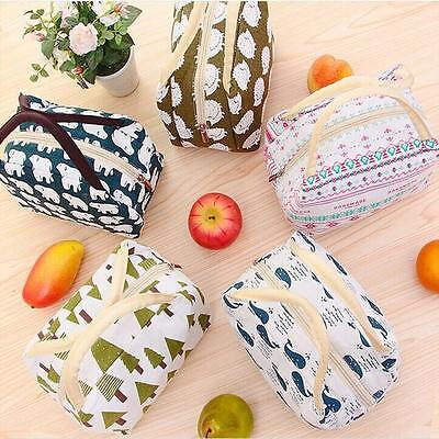 Thermal Portable Insulated Cooler Bag Lunch Picnic Carry Tote Storage Case RU