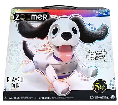 ZOOMER Playful PUP Puppy Responsive Robotic Dog with Voice Recognition Realistic