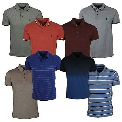 French-connection Men's New Polo FCUK Short Sleeve Cotton T-Shirt