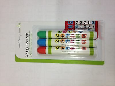 Bingo Dabbers Marker Pens Mixed Colours - Non Drip Ink Dabber Set Pack of 3