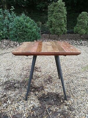 Industrial Style Metal & Wooden Square Dining Table *3 Available**FREE DELIVERY*