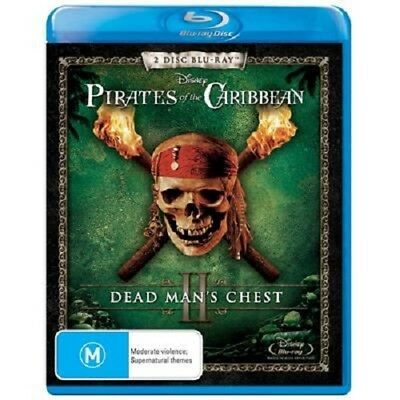 Pirates of the Caribbean 2: Dead Man's Chest - 2 Disk Blu Ray - [New & Sealed]
