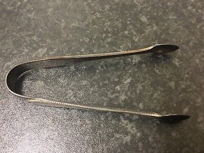 """Lovely pair of solid silver sugar tongs - Sheffield 1926 - approx 4.5"""" long"""