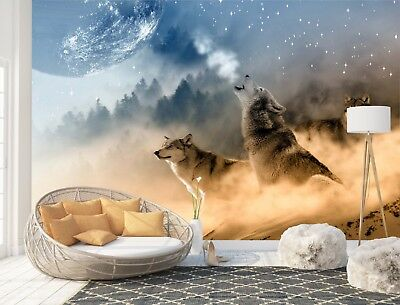 Wall Mural Photo Wallpaper Picture EASY-INSTALL Fleece Wolves Wildlife Animals