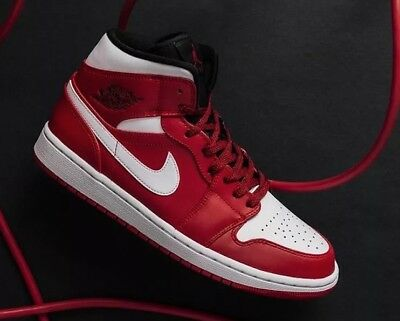 new concept 3a43c 91044 Nike Air Jordan 1 Mid  Chicago  554724-605 Gym Red Size UK 15