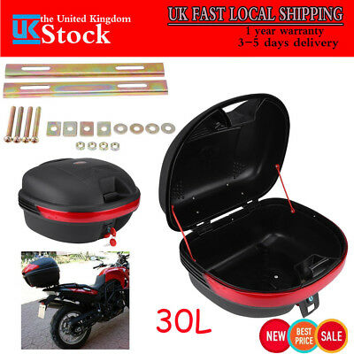 Motorcycle Trunk 30L PP Tail Box Rack Mount Scooter Luggage Carrier Top Case