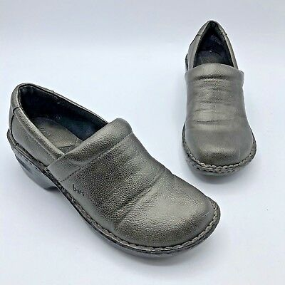8f72b1870dc BOC Born Concept Women Pewter Vegan Slip On Clog Shoe Size 6.5 EUR 37 Pre  Owned
