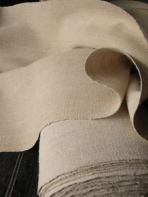 Antique linen material Upholstery fabric 11yds 2 toned!