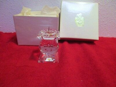 """Swarovski Candle Holder Pin Style 2¼"""" Crystal Ball Candlestick Retired NEW #7600"""