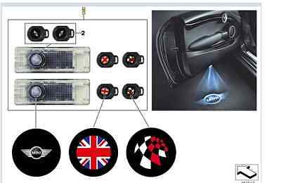 Genuine LED Door Projectors MINI Emblem, Union Flag or Checkered 63312414106 UK