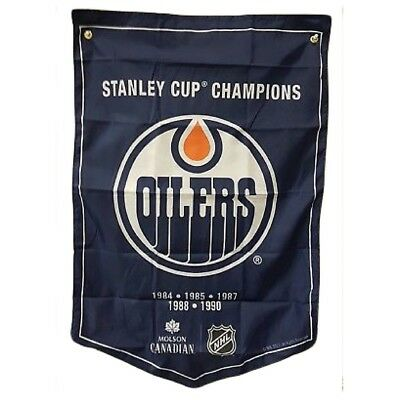 Edmonton Oilers NHL 2018 Molson Canadian Stanley Cup Champions Banner Coors