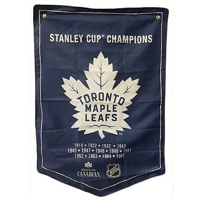 Toronto Maple Leafs NHL 2018 Molson Canadian Stanley Cup Champions Banner Coors