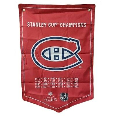Montreal Canadiens NHL 2018 Molson Canadian Stanley Cup Champions Banner Coors