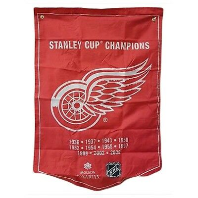 Detroit Red Wings NHL 2018 Molson Canadian Stanley Cup Champions Banner Coors