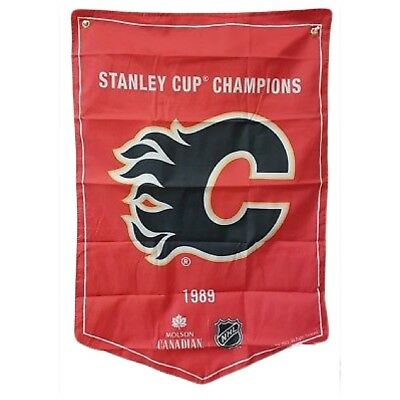 Calgary Flames NHL 2018 Molson Canadian Stanley Cup Champions Banner Coors