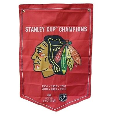 Chicago Blackhawks NHL 2018 Molson Canadian Stanley Cup Champions Banner Coors