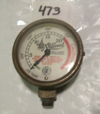 VINTAGE NATIONAL GAUGE AND EQUIPMENT PRESSURE TEMPERATURE CHIEF LOGO steampunk