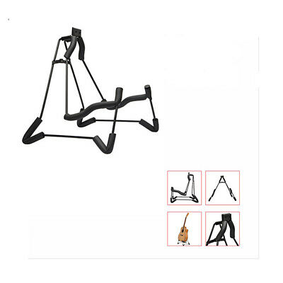 Glarry Foldable A-Shaped Electric Guitar Stand Black