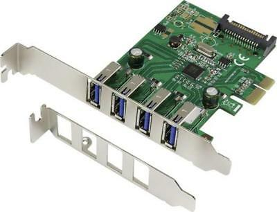 Renkforce - 4 Port USB 3.0-Controllerkarte USB-A PCIe