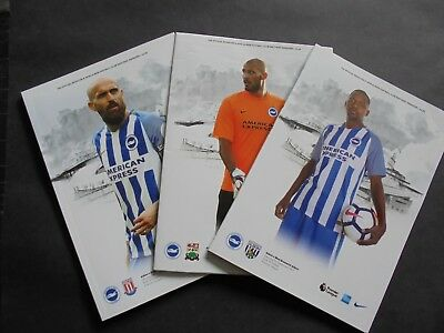 2017/18 Brighton Home Programmes Choose From