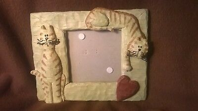 Connoisseur Two Cats Picture Frame