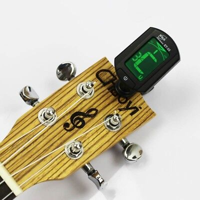 Chromatic Clip On Digital Tuner Acoustic Electric Guitar Bass Violin Ukulele
