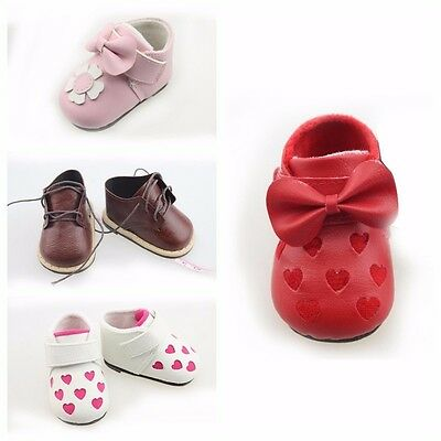 "Doll Shoes Reborn Baby Toddler Handmade 20-22"" Dolls Beautiful Perfect Best Gift"