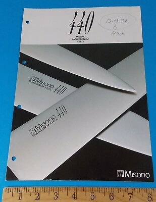 Misono 440 Knife Pamphlet Rhett Stidham Estate