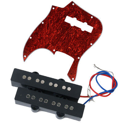 4 STRING SOAPBAR Jazz BASS Open GUITAR HUMBUCKER PICKUP PICKGUARD SET
