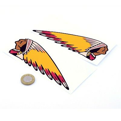 Indian Motorcycles Sticker Decal Vinyl Motorbike STICKERS 100mm x2 Handed