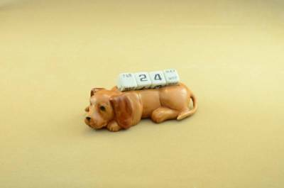 2018 YEAR OF THE DOG/CHINESE CALENDAR FIGURINE 'Mint'