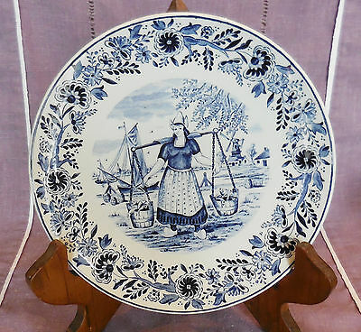 Assiette Decorative Boch - Manufacture Royale De La Louviere - Decor Delft's