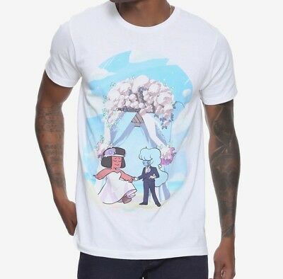 Steven Universe Wedding White T-Shirt Mens Te Exclusive NWT 100% Authentic Anime