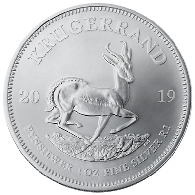 2019 South Africa Silver Krugerrand 1 oz Brilliant Uncirculated