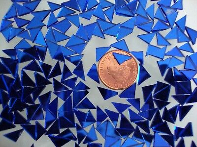 100 # Mosaic Quality Royal Blue  Mirror Tiny Triangular shaped pieces,
