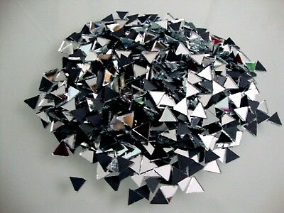 100 # Mosaic Triangular Silver Mirror, Tiles Approx 10 x 10 x 10 mm, 2 mm thick.