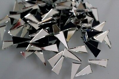 Mosaic Silver Mirror Glass Tiles for Art & Craft, approx 2x1 cm, 100 pcs