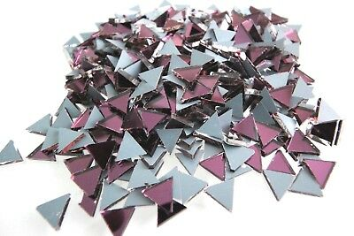 Mosaic Purple Mirror Glass Triangular Tiles 1x1x1 cm, 100 pcs