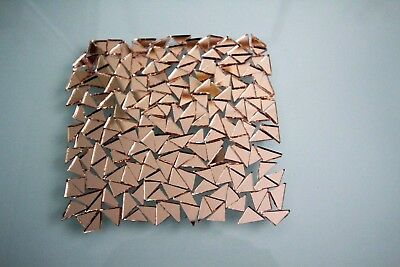 100 # Mosaic Triangular Rose gold Mirror Tiles Approx 10x10x15 mm.