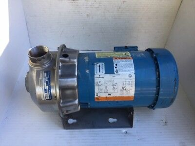 """Goulds Water Tech 3ST1G5C4, Emerson 2HP 3450 RPM, 1 1/2"""" IN 2"""" Out, Stainless."""