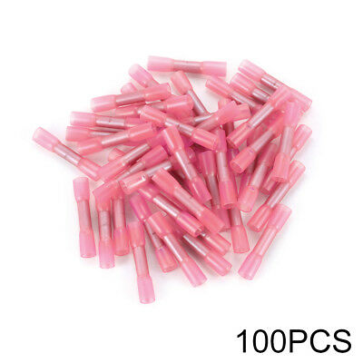 100x Heat Shrinkable Crimp Terminal 0.5-1mm Wire Butt Connector 22-18AWG HS1015