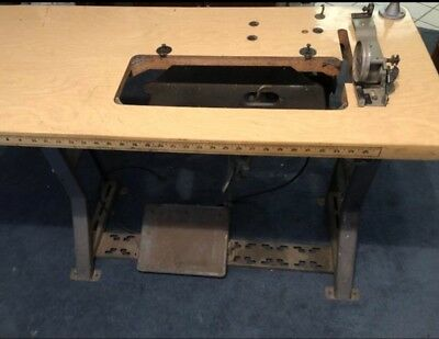 Empty Industrial Sewing Machine Table Cabinet