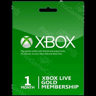 Xbox Live Gold Membership XBOX 1 Month new accounts only SALE