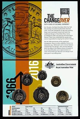 2016 Changeover Mint Coins in folder from RAM bags 5c,10c,20c,50c,$1,$2