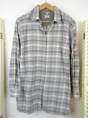 VINTAGE ladies cotton checked country style soft brushed cosy chunky  shirt  L