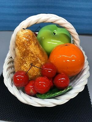 Vintage DI Bassano Hand Painted Fruit Basket Centerpiece. Made In Italy. New (3)