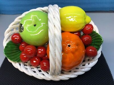 Vintage DI Bassano Hand Painted Fruit Basket Centerpiece. Made In Italy. New (9)